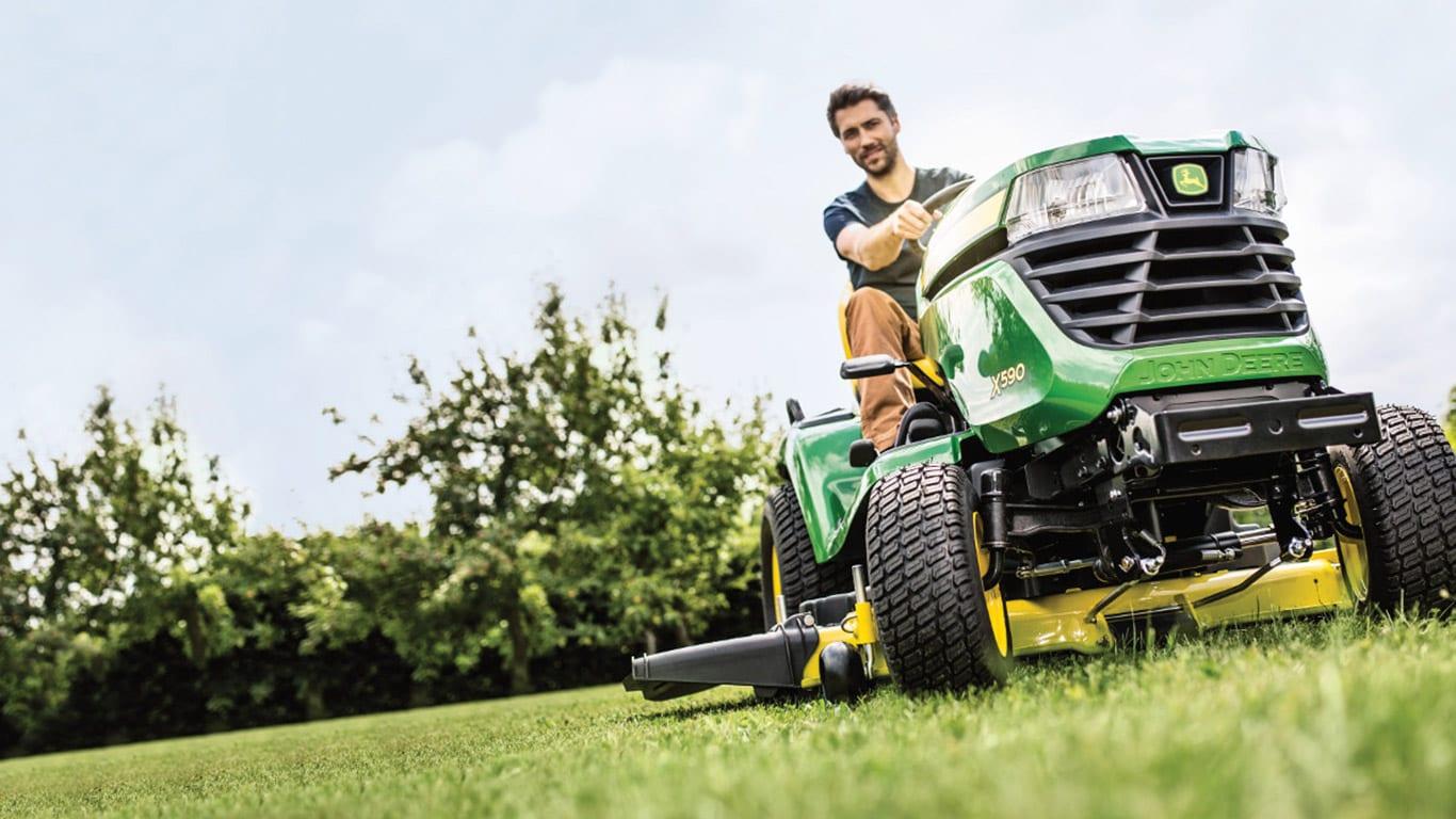 Åkgräsklipparutrustning RLE trädgårdstraktorer X500-serien