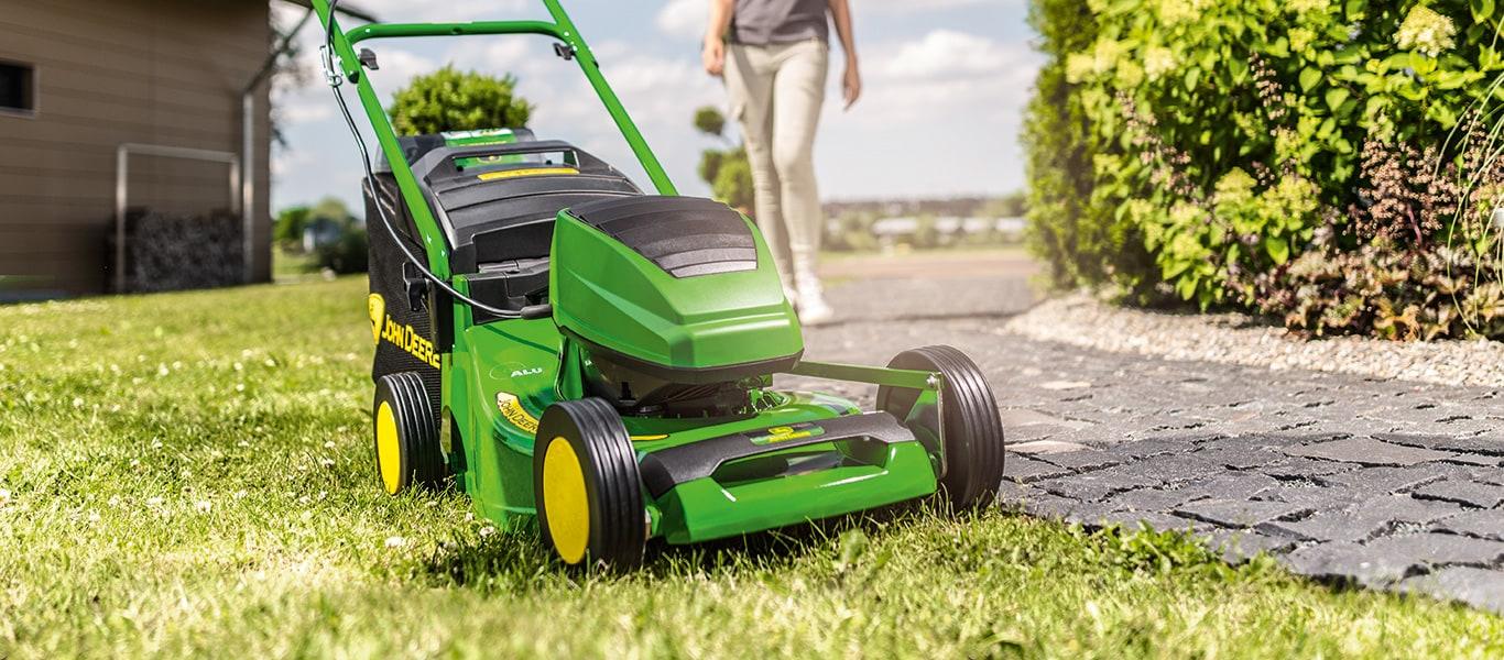 R43B, gågräsklippare, batteridriven gräsklippare